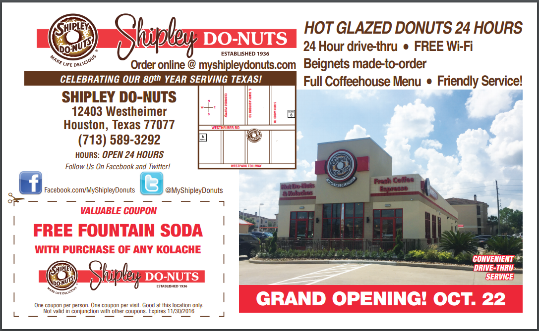24 Hour Houston Donut Shop Shipley Grand Opening